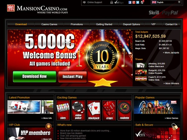 Mansion Casino Review